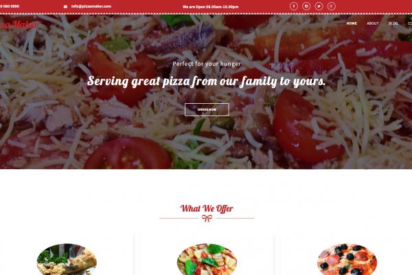 pizzeria sitebuilder xlogic